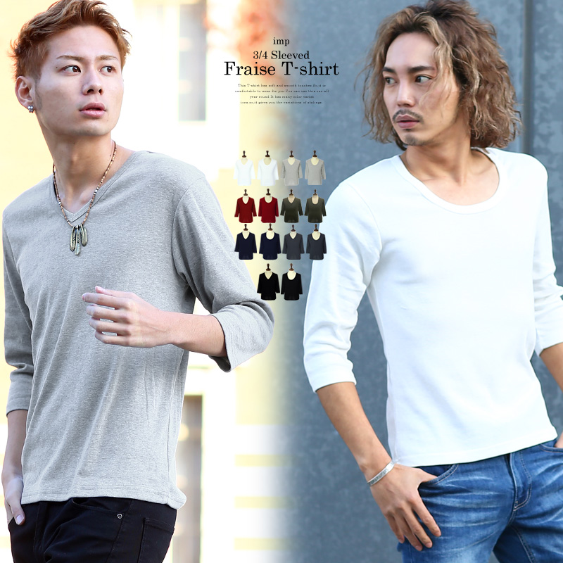 【IMP】T/Cフライス七分袖Tシャツ