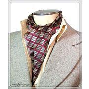 エレガントな袋縫いプリント柄入りメンズ用100%シルクスカーフ 10141a