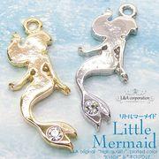 """★L&A Original charm★煌めくマーメイド♪かわいい人魚のチャーム★美しき鍍金""""Little Mermaid"""""""