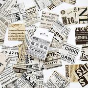 格安☆文房具★紙物★シール★貼紙★メモ帳素材★新聞★アンティーク★様々デザイン45枚入