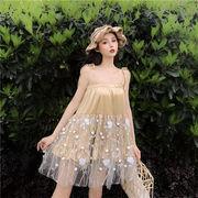 春夏 旅行 休日 スーパーフェアリー ワンビース チュールスカート プリンセスドレス  スリングドレス