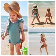子供水着 キッズ 女の子  ビーチ 練習用 温泉 可愛い ワンピース 80-120 2色