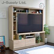 55インチ対応 テレビ台 ハイタイプ 壁面家具 リビング壁面収納 TV台 オーク COLMAR165-OAK