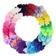 激安 新作  キッズ リボン ヘアクリップ ヘアピン 40colors 韓国ファッション