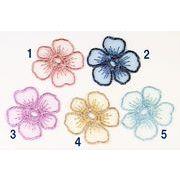 【トレンドパーツ】レース素材 刺繍パーツ 刺繍フラワー 刺繍蝶々 ネッシー最安値