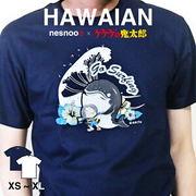 和柄 ユニセックス 鬼太郎コラボTシャツ 夏シリーズ「ハワイアン」