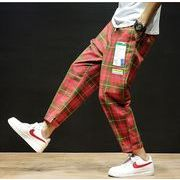 【大きいサイズM-5XL】ファッション/人気パンツ♪アカ/グリーン2色展開◆