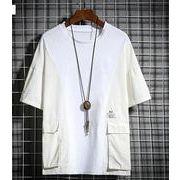 メンズ新作Tシャツ カットソー 半袖トップス カジュアル 大きいサイズ 全4色