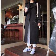 華やかな印象に 韓国ファッション カジュアル ロングセクション スリム ラペル トレンチコート コート