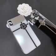 定形外771307】iPhone XS MAX ケース ミラー カメリア デザイン 純正品質 ミラー 付き