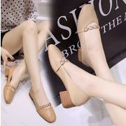 新作サンダル 靴 シンプル ビンテージ チェーン 韓国 ファッション カジュアル フラット