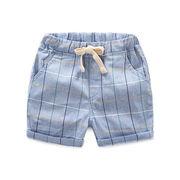 赤ちゃん グリッド ショートパンツ 夏服 韓国風 新しいデザイン 男児 キッズ洋服 児童
