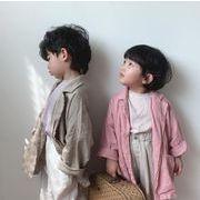 キッズジャケット  秋 80-130 ロング丈 普段着 綿 長袖 子供コート 日常用 男の子 女の子
