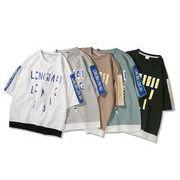 メンズ新作Tシャツ カットソー トップス カジュアル ゆったり 全5色