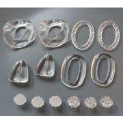 新品初日販売20%OFF♪ 新品 透明 樹脂材質 イヤリング用 アクセサリーパーツ