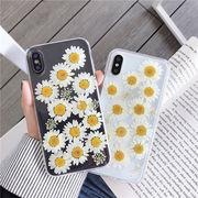 花柄 クリア ハーバリウム 押し花 iphone ケース 透明 スマホケース