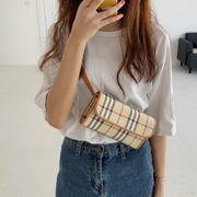 バッグ チェック柄 腰掛け 斜め掛け オシャレ 原宿風 シンプル 韓国 ファッション 学生
