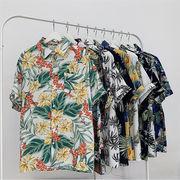 一部即納 高レビュー ハワイ ビーチ 休暇 フラワーシャツ スリム 大きいサイズ ハンサム シャツ コート