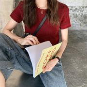 夏 新しいデザイン 韓国風 薄いスタイル アンティーク調 何でも似合う 短いスタイル ニ