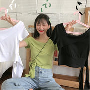 初回送料無料 2019 可愛い カジュアル 半袖 Tシャツ 全3色 gjyfh-1907aqt2463 春夏 新作