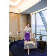 大人の魅力高まる 手触り良い 女性 ツーピースセット シャツショートスカート