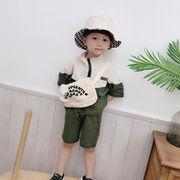トップス キッズ 半袖 tシャツ  半ズボン 涼しい カジュアル セット上下2点 韓国子供服 夏服 新作 セール