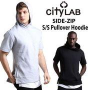【CITY LAB】(シティーラブ) Performance Fleece サイドジップ 半袖 かぶり パーカー 2色