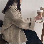 女性らしさ満点の魅力スタイルを トレンド ウール 秋冬物 怠惰な風 セーター ニット コート
