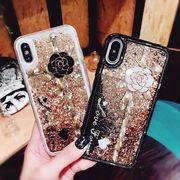 スマホケース iphone ケース アイホンケース カメリア 流砂ケース