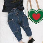 【特価】★ キッズパンツ★ 男女兼用★定番キッズジーンズ★デニムパンツ★韓国風