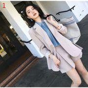 秋新作 女性服 2点セット 上下セットアップ 長袖 小さなスーツ+ショットパンツ ワイドパンツ OL 事務室