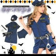 Let'sハロウィンパーティー!!ミニスカポリス ワンピース*警察 警官 ハロウィン コスプレ 衣装