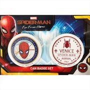 【缶バッジセット】スパイダーマン ファーフロムホーム カンバッジ2個セット