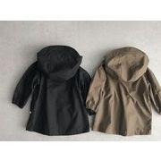 キッズジャケット  秋 春 ロング丈 普段着 長袖 子供コート 日常用 男の子 女の子