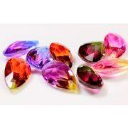 サンキャッチャー ガラスビーズ グラデーションカラーのガラスビーズ 両面立体のダイヤカット