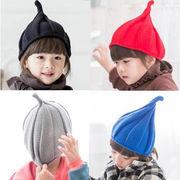 激安☆毛糸の帽子◆キッズ 子供◆編みキャップ◆暖かいニット帽子◆ハット◆耳あて とんがり帽子
