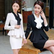 ★S~5L★大きいサイズ OL 通勤 通学 ビジネス 面接 出かけ 上品感 スーツセット