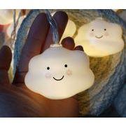 LED ホワイト かわいい 笑顔 雲灯台 子供部屋 北欧の家庭 クリスマス·デコレーション