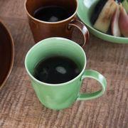 小田陶器 櫛目(kushime) 8.5cmマグカップ 緑釉[美濃焼]
