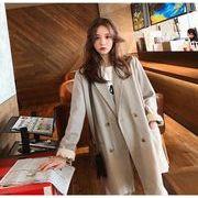 YUNOHAMI コートアウター 長袖 小さなスーツ リボン付き カジュアル  何とでも合う英倫風 おしゃれ 秋冬