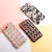 キラキラ ラメ カラー ミックス ツイード 羊毛 織物 ファッション[スマホケース/iPhoneケース]