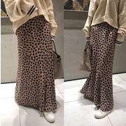韓国ファッション可愛 レディーズ 合わせやすい カジュアル スレンダーラインロングスカート