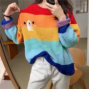 秋 新しいデザイン 韓国風 長袖Tシャツ 女子学生 何でも似合う 着やせ トップス ティ