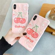 果物 スマホケース  iPhone XRケース チェリー スマホカバー