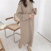 全4色★最強の新作★韓国ファッション可愛  カジュアル エレガント ニット セーター ワンピース