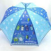 【雨傘】【ジュニア用】55cmモンスターズインクブルーポップ柄ジャンプ傘