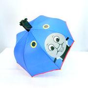 【雨傘】【ジュニア用】きかんしゃトーマス1駒透明耳付き手開き傘