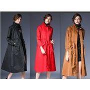 【大きいサイズL-XXL】ファッション/人気コート♪ブラック/アカ/カーキ3色展開◆