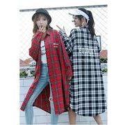 【大きいサイズL-XXL】ファッション/人気ワイシャツ♪ブラック/アカ2色展開◆