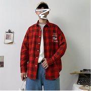【大きいサイズM-5XL】ファッション/人気ワイシャツ♪ホワイト/アカ2色展開◆